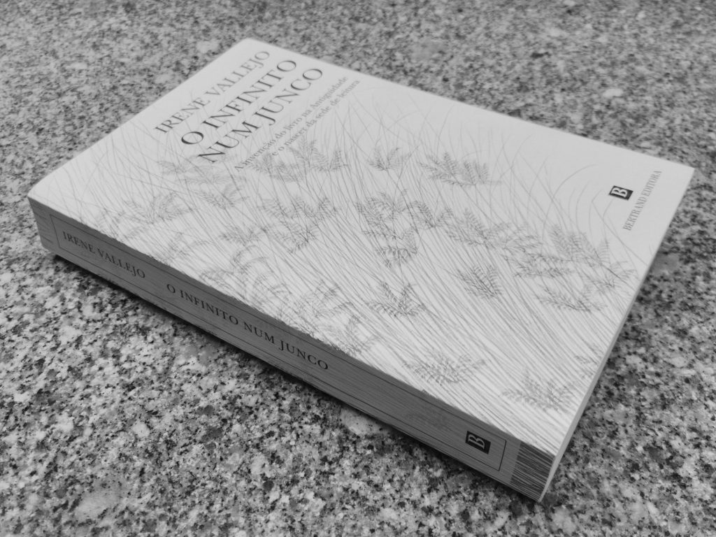 Recensão do livro O Infinito num Junco de Irene Vallejo, editado em Portugal no passado ano de 2020 pela Bertrand Editora   INTRO